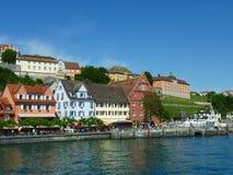 Meersburg och Lake Constance arkivfoto
