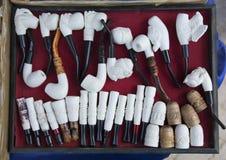 Meerschaum bulldogs. Meerschaum ornamental articles. Almost all of meerschaum is removed from Eskişehir / Turkey Stock Image