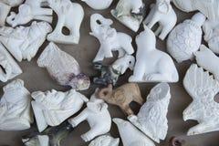 Meerschaum sculptures. Meerschaum ornamental articles. Almost all of meerschaum is removed from Eskişehir / Turkey Stock Photography