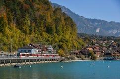 Meerstad van Brienz, Zwitserland royalty-vrije stock foto's