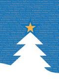 Meertalige Tekstuele Kerstboom stock illustratie