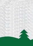 Meertalige Tekstuele Kerstboom royalty-vrije illustratie