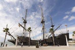 Meertros van Galeon in de Haven van Alicante Royalty-vrije Stock Afbeelding