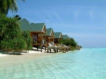 Meeru Bungalows. Bungalows - Meeru Island Resort Maldives Royalty Free Stock Photo