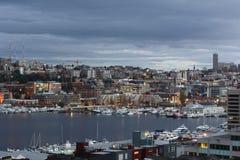 Meerunie en Seattle de stad in royalty-vrije stock foto's