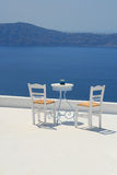 Meervieuw, Santorini Lizenzfreies Stockbild