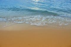Meerwasser, Strandbewegung des Meeres morgens Stockbild