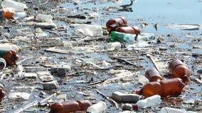 Meerwatervervuiling stock footage