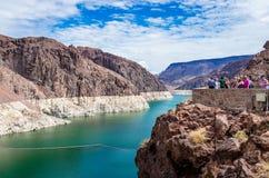 Meerweide van de Hoover-Dam stock foto's