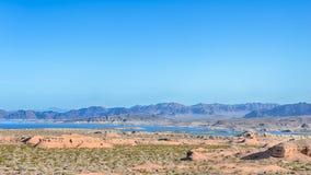 Meerweide, Wilson Ridge, Meer Mead National Recreation Area, NV Royalty-vrije Stock Afbeeldingen