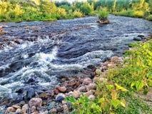 Meeslepende rivier royalty-vrije stock foto