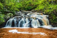 Meeslepende waterval in de bergen van Georgië royalty-vrije stock foto