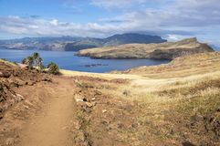 Meest oostelijke deel van het eiland Madera, Ponta DE Sao Lourenco, Canical-stad, schiereiland, droog klimaat stock afbeelding