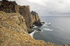 Meest oostelijke deel van het eiland Madera, Ponta DE Sao Lourenco, Canical-stad, schiereiland, droog klimaat royalty-vrije stock foto's