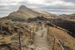 Meest oostelijke deel van het eiland Madera, Ponta DE Sao Lourenco, Canical-stad, schiereiland, droog klimaat stock foto's