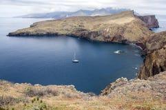 Meest oostelijke deel van het eiland Madera, Ponta DE Sao Lourenco, Canical-stad, schiereiland, droog klimaat royalty-vrije stock afbeeldingen