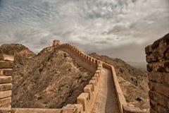 Meest westelijke deel van de Grote Muur Stock Foto's