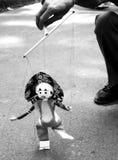 Meester en Marionet stock fotografie