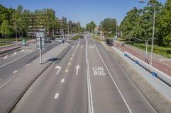 Meester G Groen skåpbil Prinstererlaan Gata på Amstelveen Nederländerna arkivbilder