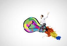 Meester van creatieve ideeën Stock Afbeeldingen