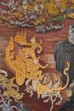 Meesterwerk van traditioneel Thais stijl het schilderen art. Royalty-vrije Stock Afbeeldingen