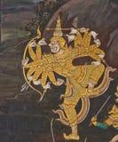 Meesterwerk van traditioneel Thais stijl het schilderen art. Stock Fotografie