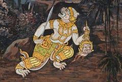 Meesterwerk van traditioneel Thais stijl het schilderen art. Stock Afbeeldingen