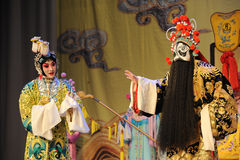Meet-Beijing Opera: Farewell to my concubine. Farewell to My Concubine is the art of Beijing Opera master Mei Lanfang performances of the Mei School of classical Royalty Free Stock Photography