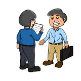 Meet with the client. Illustration of the meet with the client Stock Images