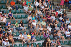 Meet the crowd. A crowd of people in the Crocoseum at Australia Zoo, Queensland Royalty Free Stock Photo