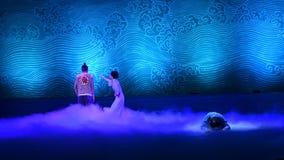 "Meet in a dream-Dance drama ""The Dream of Maritime Silk Road"" stock video footage"