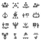 Meet icons royalty free illustration