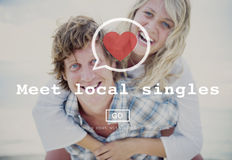 Meet Local Singles Dating Valentine Romance Heart Love Passion C Royalty Free Stock Photography