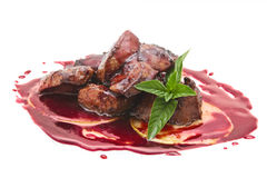 Meet with mint. Meat sauce with some mint Royalty Free Stock Photo
