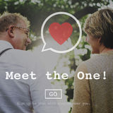 Meet the One Online Matchmaking Sign Up Concept Royalty Free Stock Image