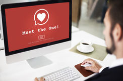 Meet the One Valantine Romance Heart Love Passion Concept Stock Photography