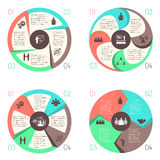 Meet people online infographic pictograms set Stock Images