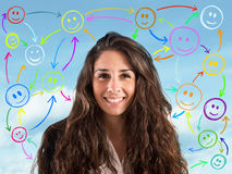 Meet people on social networks Royalty Free Stock Images