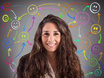 Meet people on social networks Royalty Free Stock Photo