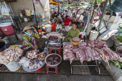 Meet seller in Ho Chi Minh city Stock Photos