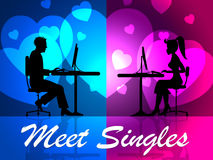 Meet Singles Means Search For And Adoration Stock Photo