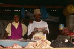 A meet stall in South Africa. Royalty Free Stock Images