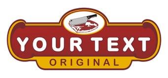 Meet store vintage emblem Stock Photo