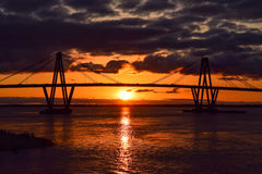 Meet the sunset at Corrientes royalty free stock photo