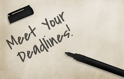 Meet Your Deadlines Appointment Events Concept Royalty Free Stock Photography