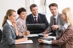 At meeting Stock Image