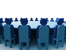 Meeting. 3d meeting stock illustration
