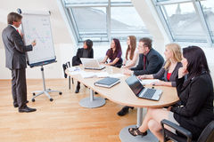 During a meeting royalty free stock photo