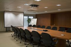 Meeting. A photo of a conference room in a high-tech company Royalty Free Stock Image