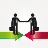 Meeting. Business meeting two important persons - abstract concept Stock Images